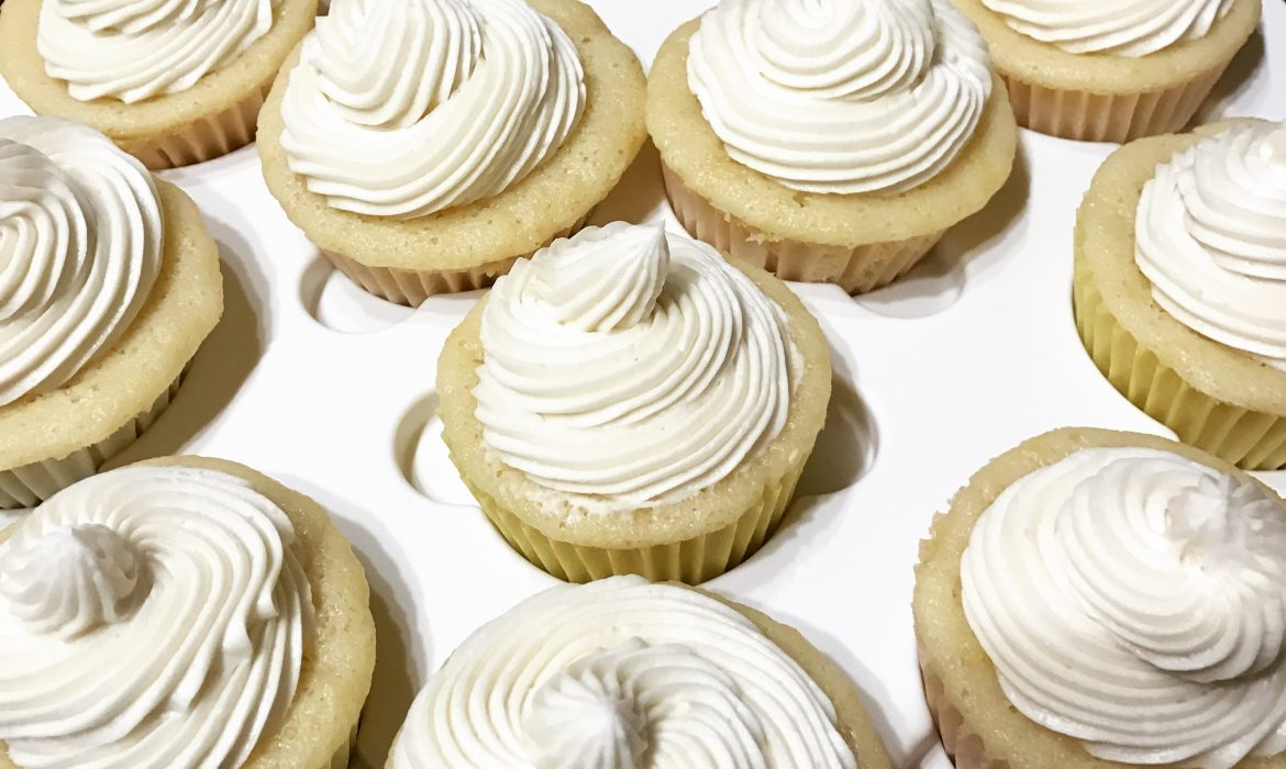 Lemon Cupcakes with Vanilla Buttercream